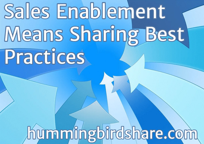 Sales Enablement Means Sharing Best Practices