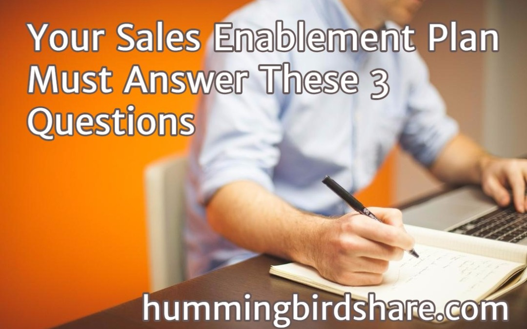 Your Sales Enablement Plan Must Answer These 3 Questions
